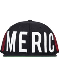 Black Scale Old Glory Snapback Cap