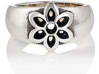 Good Art Hlywd Women's Floral Cutout Band Silver