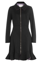 Mary Katrantzou Double Face Wool Cashmere Coat Black