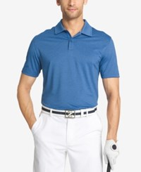 Izod Men's Striped Performance Golf Polo Blue