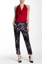 Haute Hippie Printed Silk Trouser Black