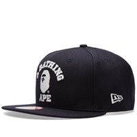 A Bathing Ape New Era College Snapback Blue