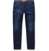 Dolce And Gabbana Slim Fit Washed Denim Jeans Blue