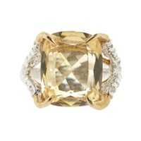 Tessa Metcalfe Antique Citrine Claws Of Engagement Gold Yellow Orange