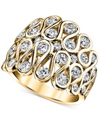 Sirena Diamond Statement Ring 1 3 4 Ct. T.W. In 14K Gold Yellow Gold