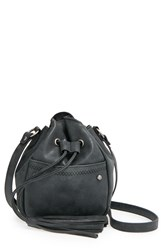 Lulu 'Alice' Tassel Drawstring Crossbody Bag Black