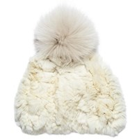 Glamourpuss Nyc Super Slouch Hat Ivory
