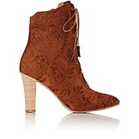 Ulla Johnson Women's Embroidered Audrey Ankle Boots Brown