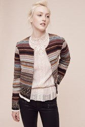 Anthropologie Embroidered Nell Jacket Novelty