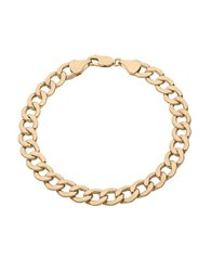 Lord And Taylor 14K Yellow Gold Curb Link Bracelet
