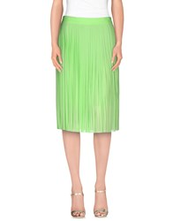 Frankie Morello Skirts Knee Length Skirts Women Acid Green