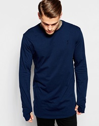 Religion Longline Long Sleeve Top Navy