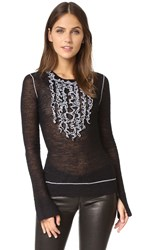Bcbgmaxazria Ruffle Sweater Black