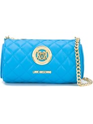 Love Moschino Quilted Barrel Cross Body Bag Blue