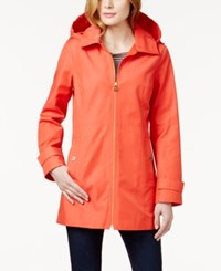 Michael Michael Kors Petite Detachable Hood Rain Coat