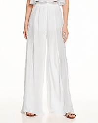 Moon And Meadow Eyelet Lace Wide Leg Pants White