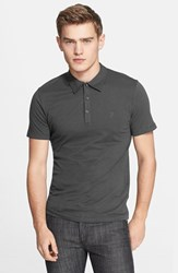 Versace Men's Collection 'Medusa' Polo Charcoal