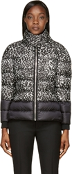Moncler Gamme Rouge Black And White Patterned Short Jacket