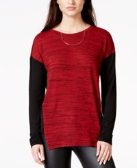 Sanctuary Johnny Colorblocked Tunic Paisley Red Onx