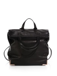 Alexander Wang Prisma Skeletal Convertible Leather Lunch Backpack Black