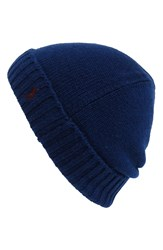 Polo Ralph Lauren Cashmere And Wool Knit Beanie Bright Navy