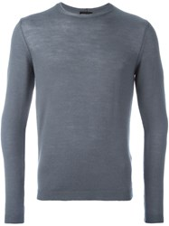 Giorgio Armani Crew Neck Jumper Grey