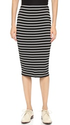 Bailey44 Striped Bianca Skirt Black And White Stripe