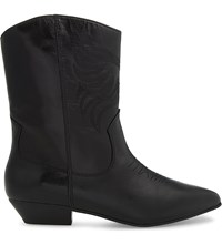 Aldo Asalidia Leather Ankle Boots Black Leather