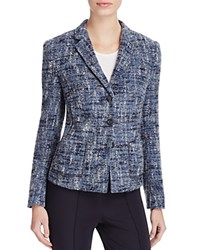 Basler Boucle Tweed Jacket Gray Blue