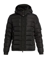 Moncler Danube Detachable Hood Quilted Down Coat Black