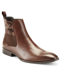 Alfani Rory Double Buckle Dress Boots Men's Shoes Brown