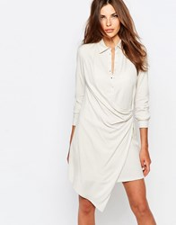 Sisley Wrap Detail Shirt Dress 00Z Beige
