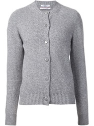 Barrie Elbow Patch Cardigan Grey