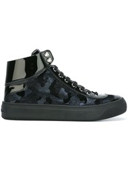 Jimmy Choo 'Argyle' Hi Top Sneakers Blue