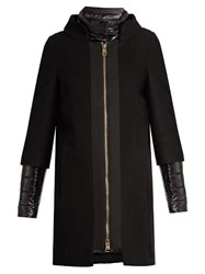 Herno Detachable Sleeved Funnel Neck Coat Black