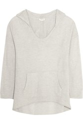 Soft Joie Claremont Open Knit Hooded Top Gray