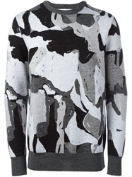 Etudes Abstract Pattern Sweater Grey