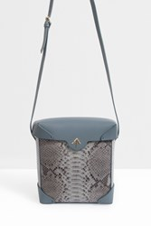 Manu Atelier Pristine Python Cross Body Grey