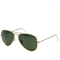 Ray Ban Ray Ban Aviator Sunglasses Gold And Green