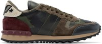 Valentino Green Beaded Camouflage Sneakers