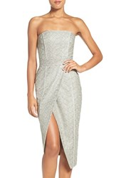 Misha Collection Women's 'Olivia' Convertible Embroidered Asymmetrical Dress