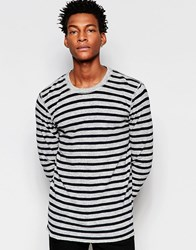Minimum Stripe Sweater Grey