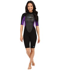 O'neill Reactor Spring Suit Black Black Uv Women's Wetsuits One Piece