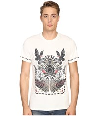 Just Cavalli Slim Fit Abstract Print Jersey T Shirt Papyrus