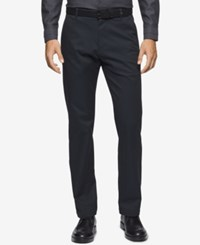 Calvin Klein Men's Double Faced Chinos Magnetic Blue
