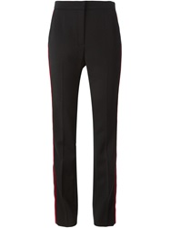 Lanvin Contrasted Stripe Trousers Black