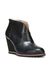 Dr. Scholl's Original Inda Leather Wedge Booties Black