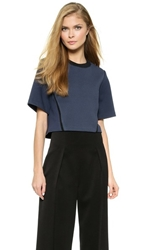 3.1 Phillip Lim Cropped Short Sleeve Sweatshirt Calvary