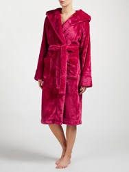 John Lewis Shimmer Fleece Hooded Robe Pink
