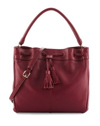 Cole Haan Loveth Leather Hobo Bag Cabernet